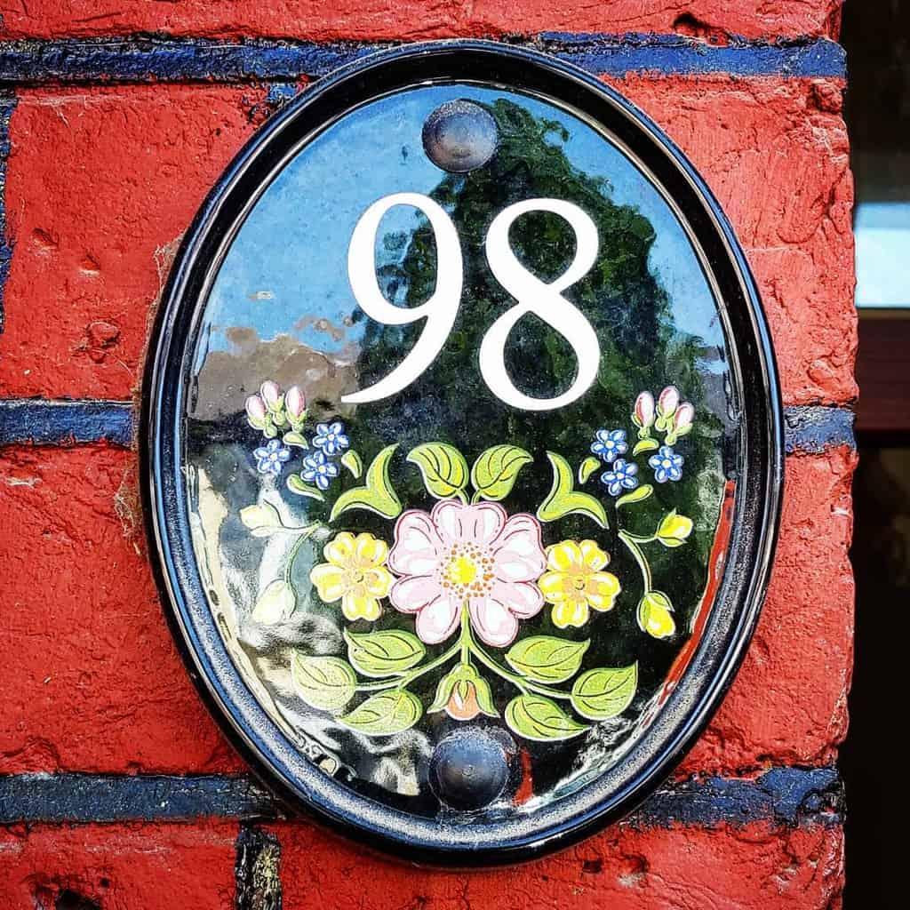 Stone Ceramics Tiles House Number Ideas -claudius.michaelis