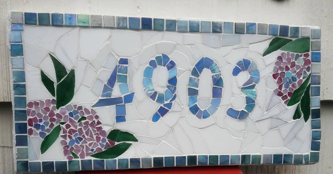Stone Ceramics Tiles House Number Ideas -jillasimmons
