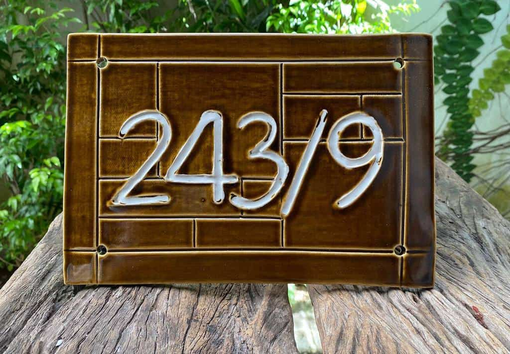 Stone Ceramics Tiles House Number Ideas -redcocoon.pottery