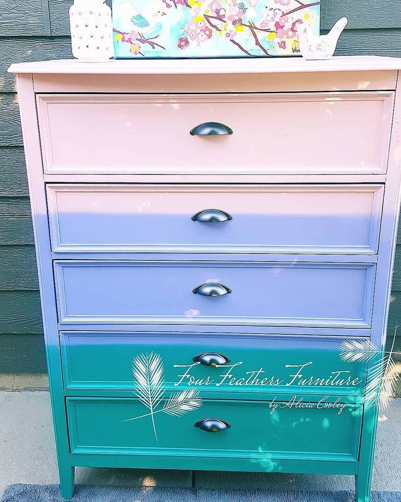 Two Tone or Multi Tone Chalk Paint Furniture Ideas -fourfeathersfurniture