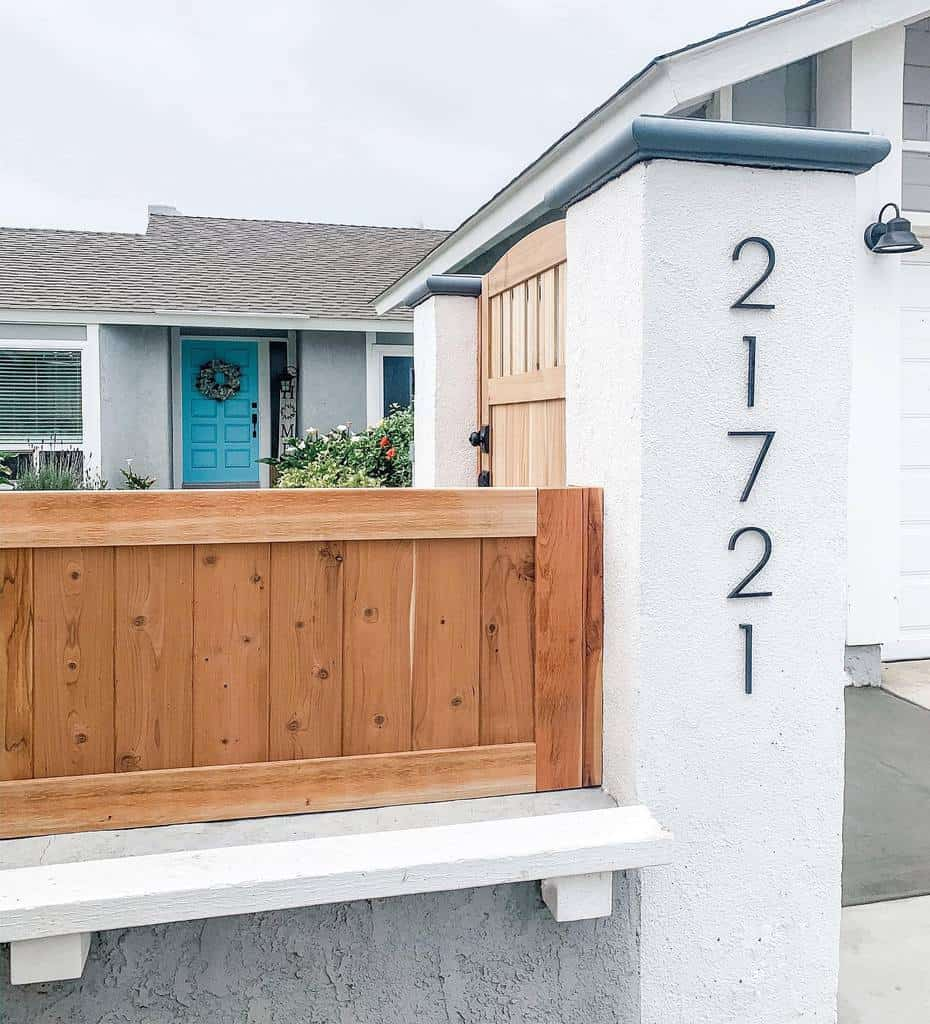 Wall or Fence House Number Ideas -faith_hope_home