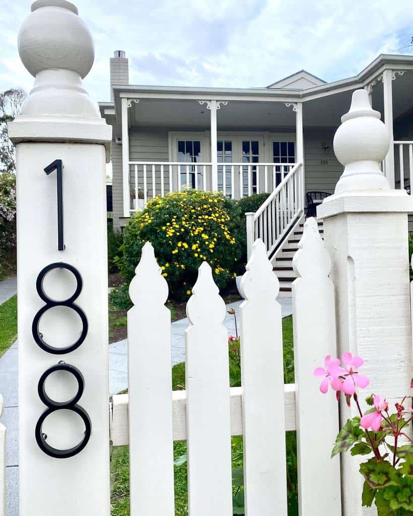 Wall or Fence House Number Ideas -thestylistsplash
