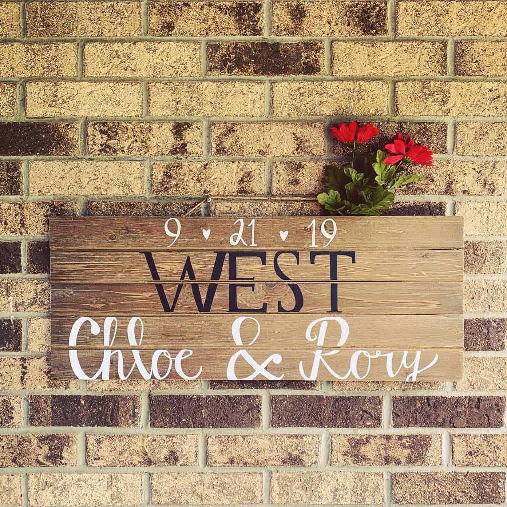 Wedding Wood Sign Ideas -featheredfontsdesign