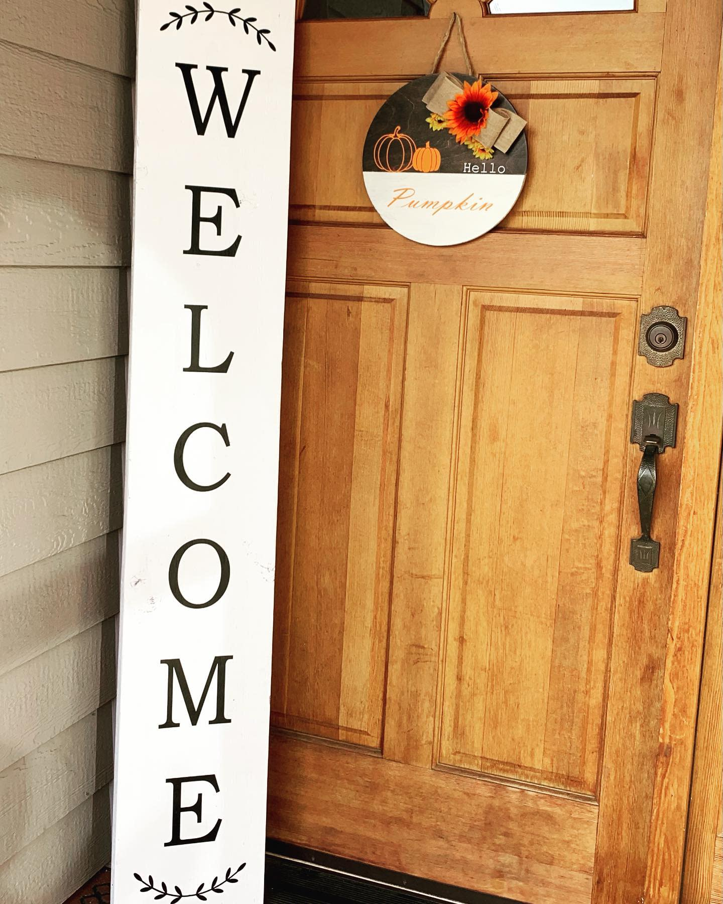 Porch Welcome Sign Ideas -itsallcraftytome