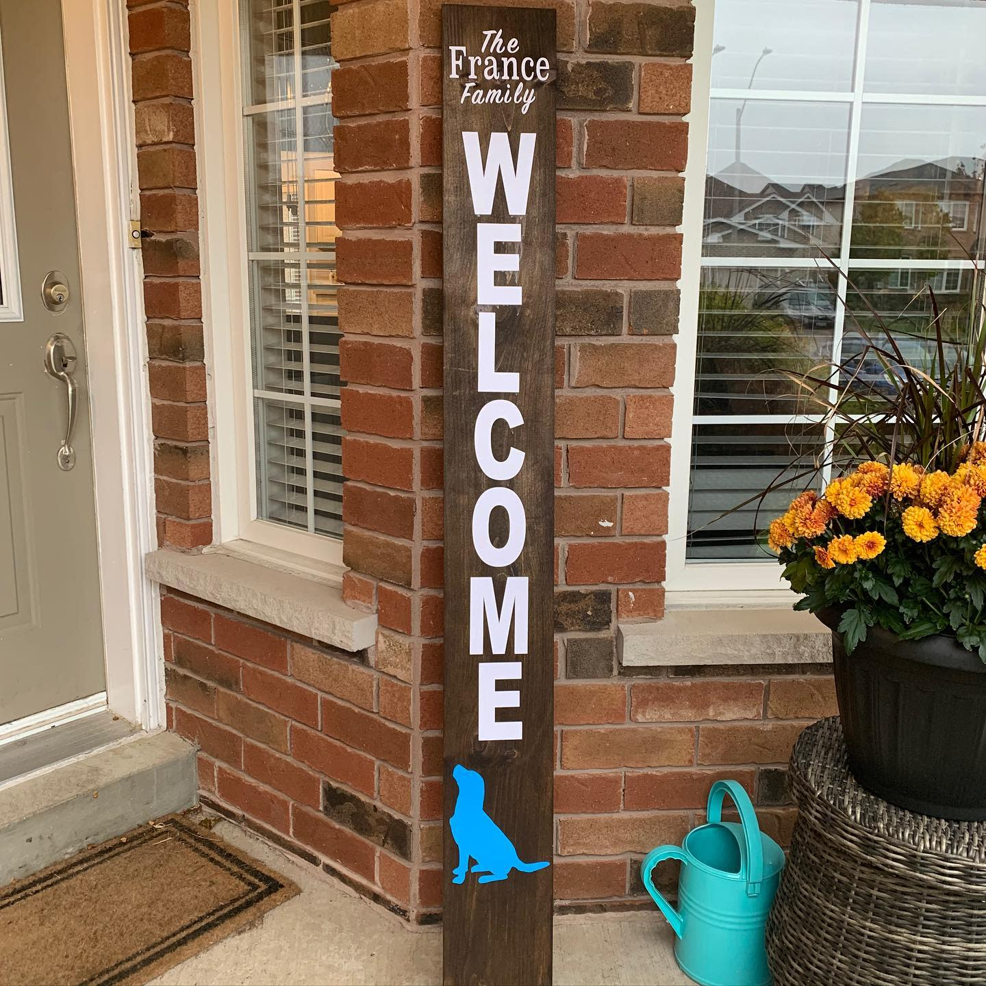 Rustic Welcome Sign Ideas -france_woodworking
