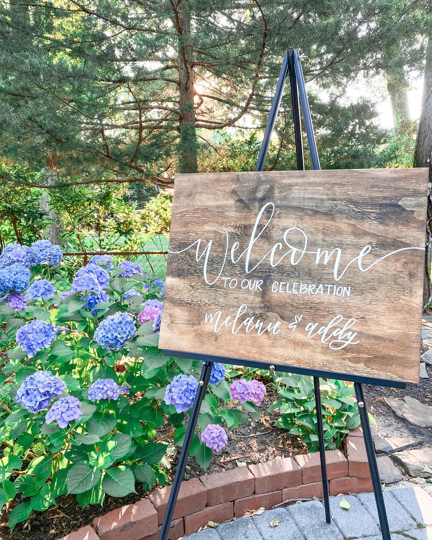 Rustic Welcome Sign Ideas -lovegrace_calligraphy