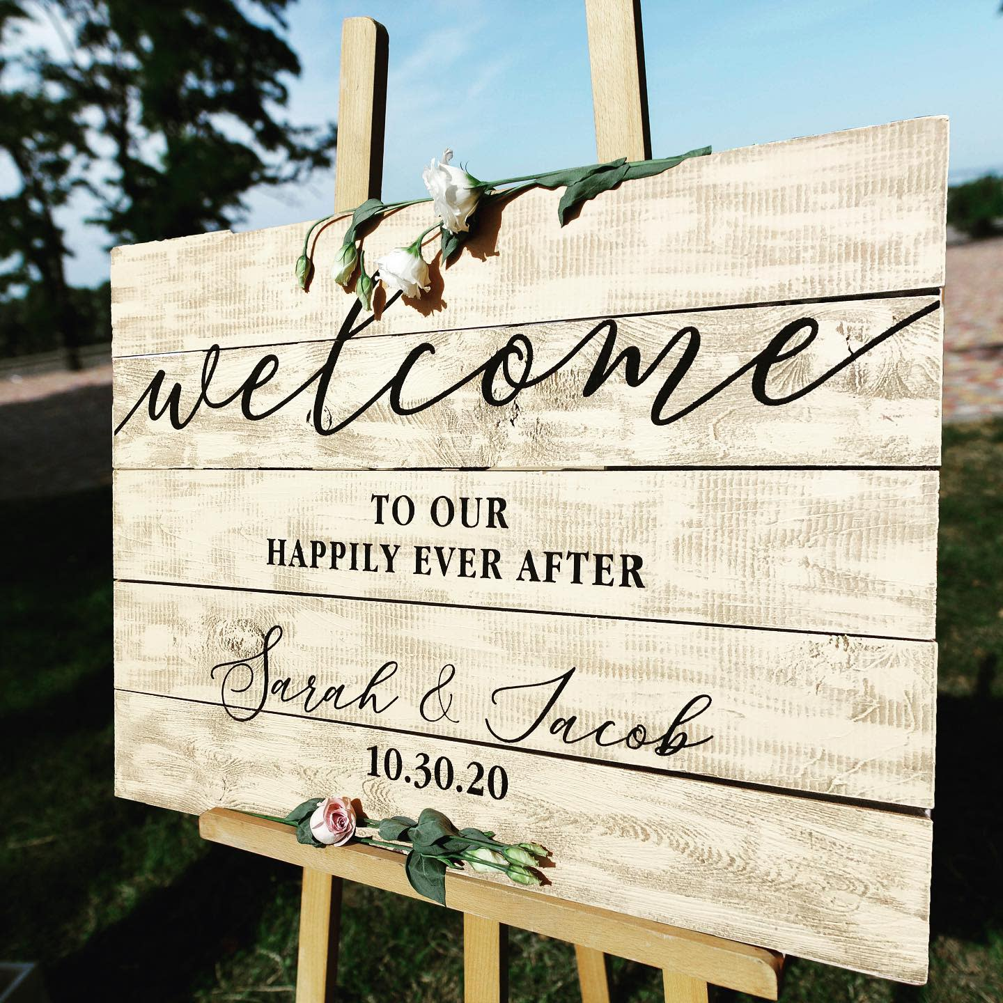 Wedding Welcome Sign Ideas -eloquentimpressions