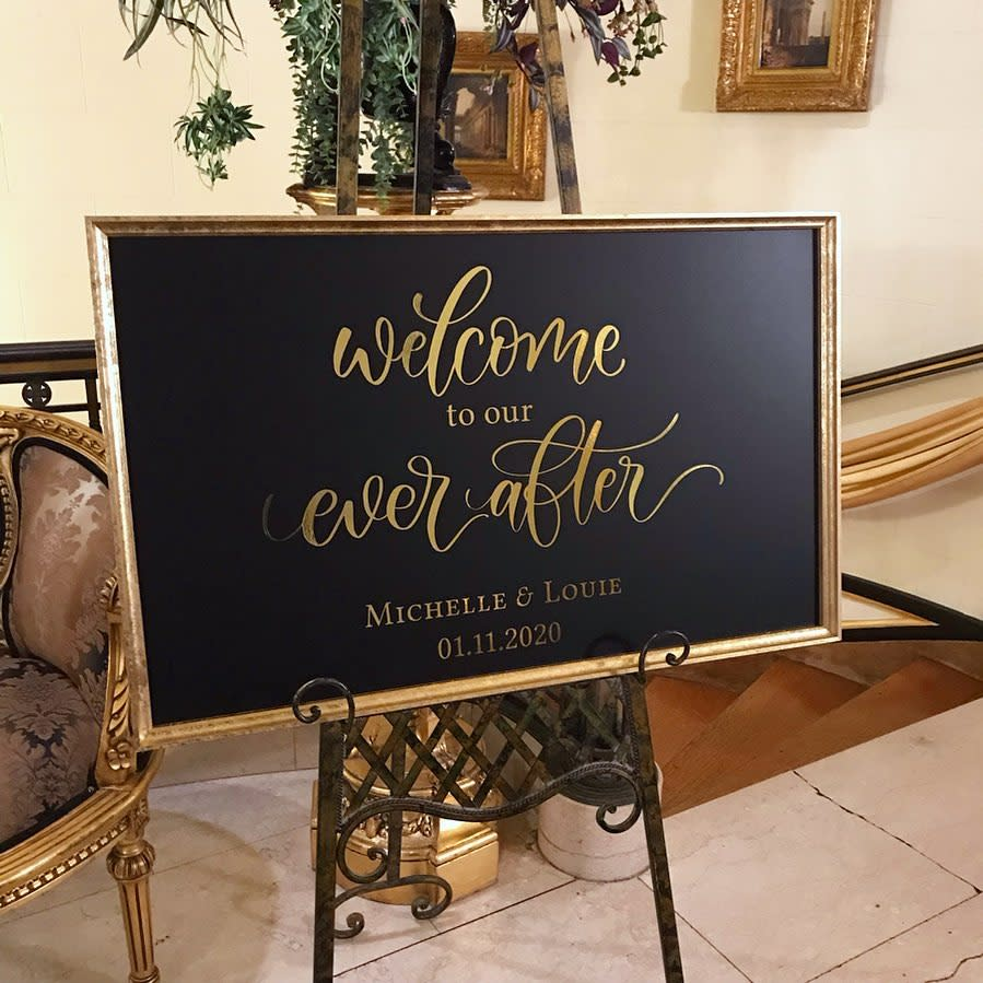 Wedding Welcome Sign Ideas -the.lazy.cat.writes