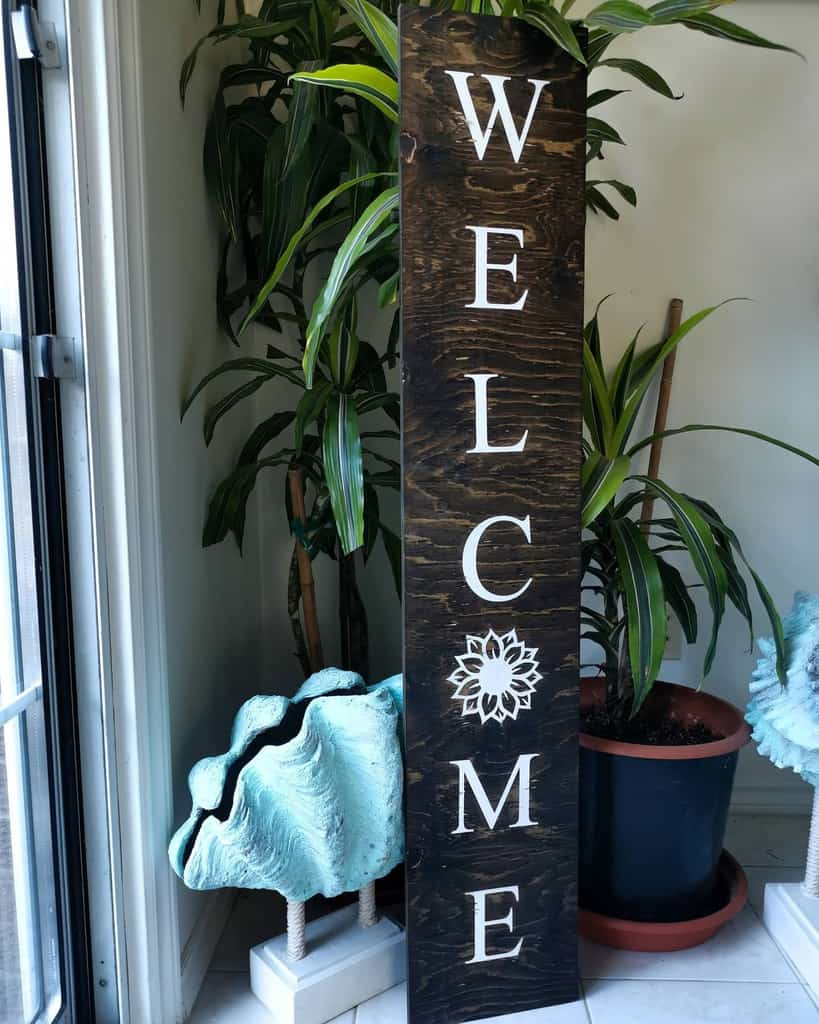 Welcome Wood Sign Ideas -deerlylovedhomecreations