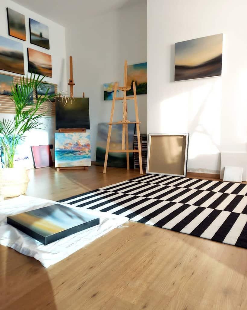 White Art Studio Ideas -chaneldurante