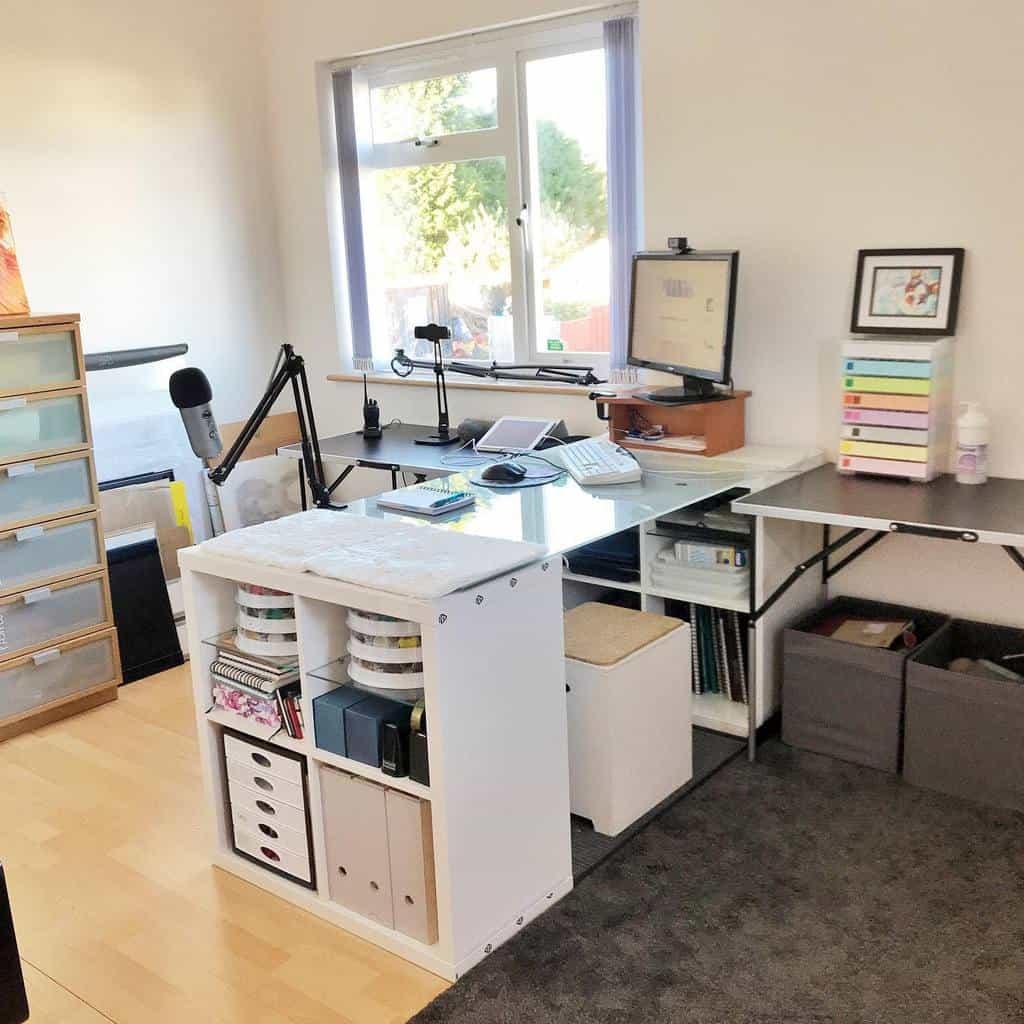 White Art Studio Ideas -denamarshallfineart
