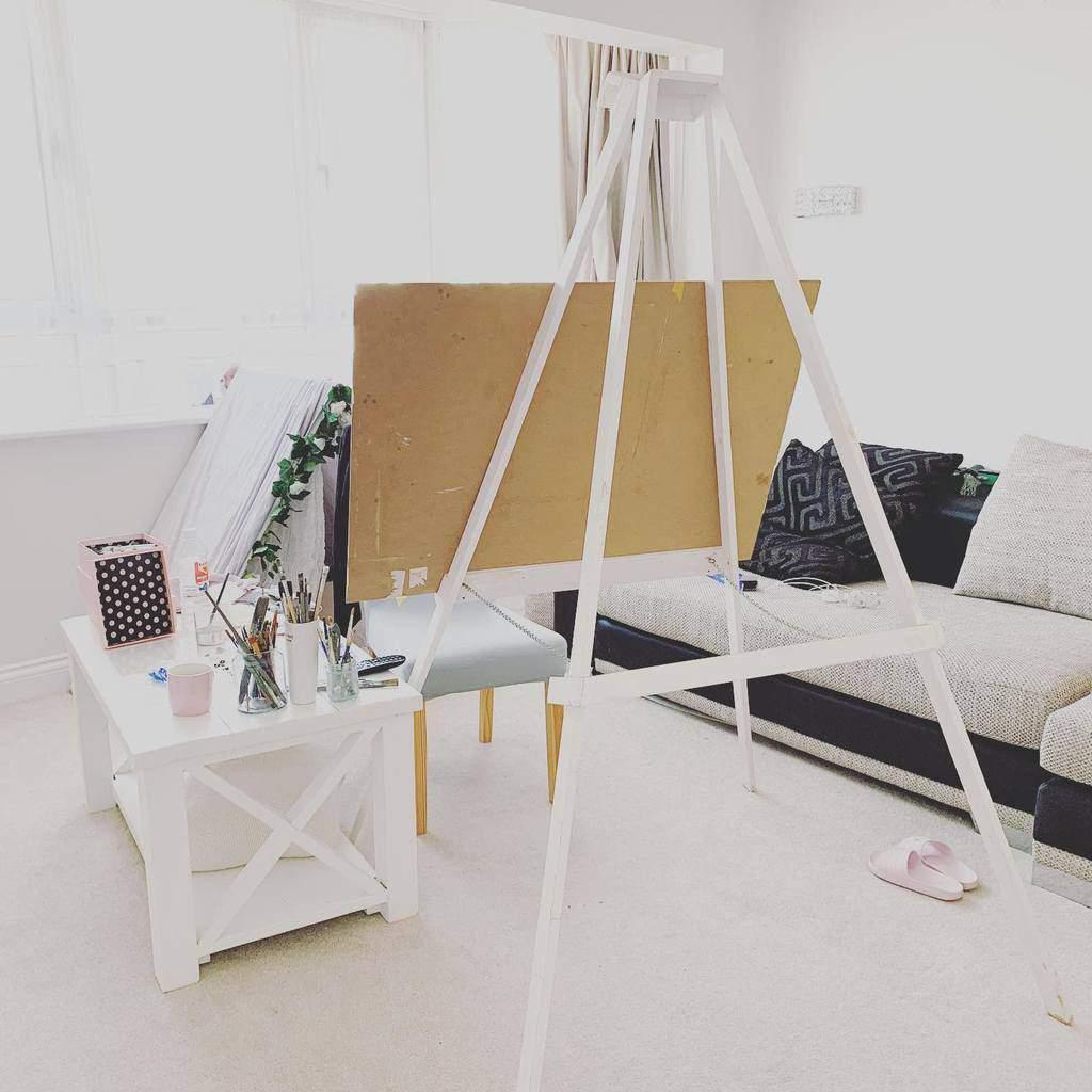 White Art Studio Ideas -shelleyhockhamart