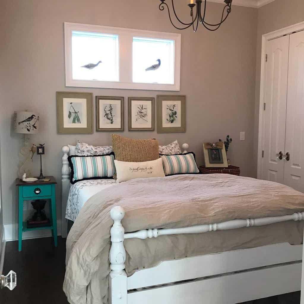 White Coastal Bedroom Ideas -frenchcoastal333