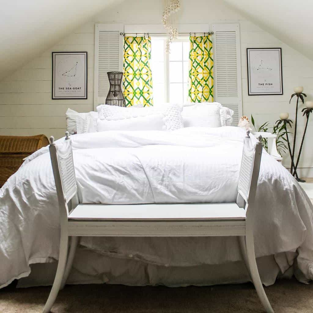 White Coastal Bedroom Ideas -thewickerhouse