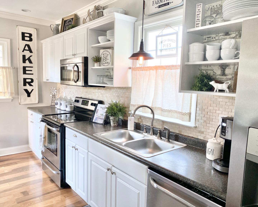 White Kitchen Shelf Ideas -coastal.home.nj