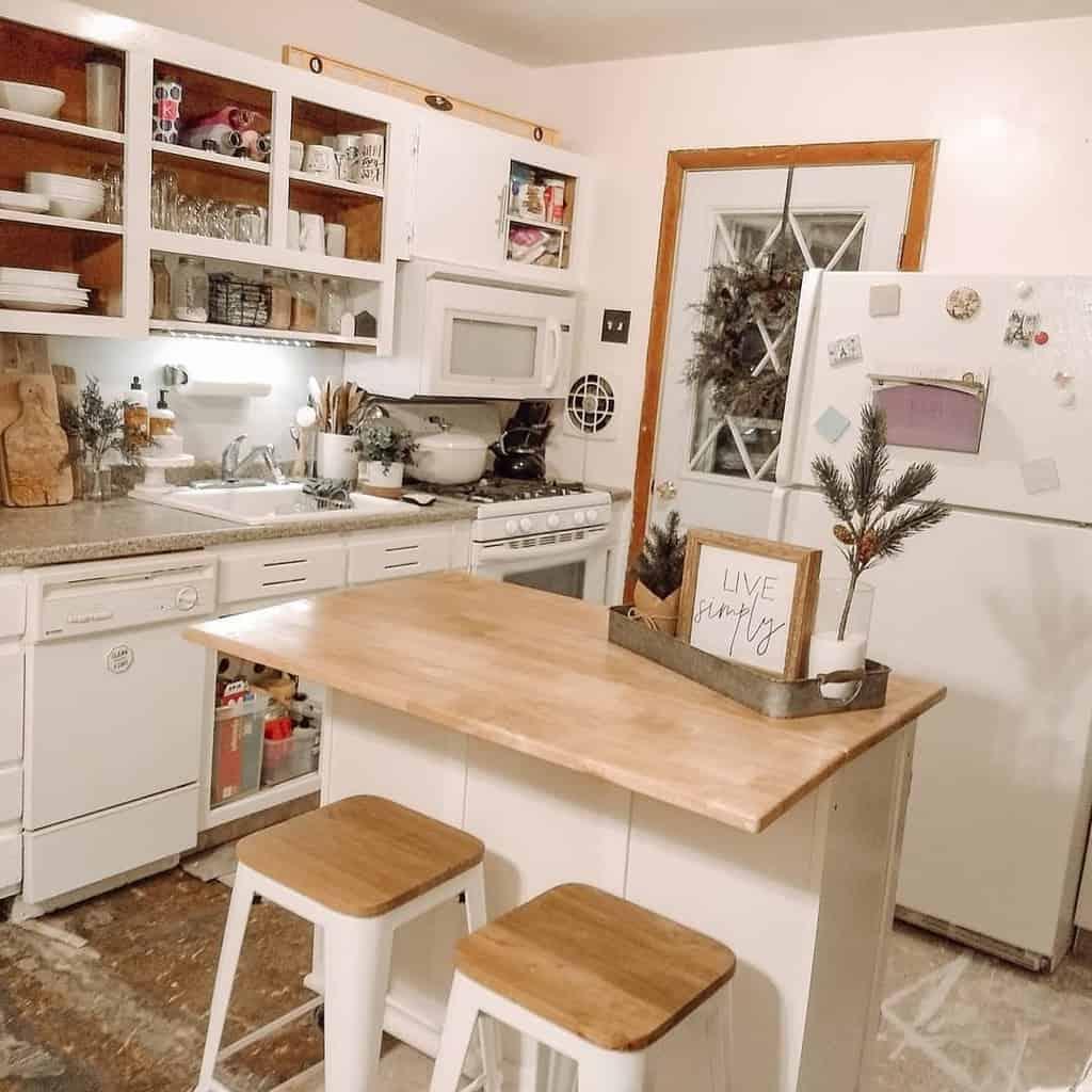 White Kitchen Shelf Ideas -enjoyingthelilthings