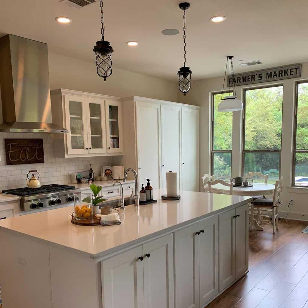 White Kitchen Shelf Ideas -formandfunctionatx