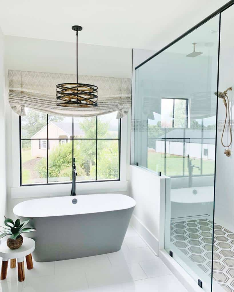 White Wet Room Ideas -hearthandhavendesign
