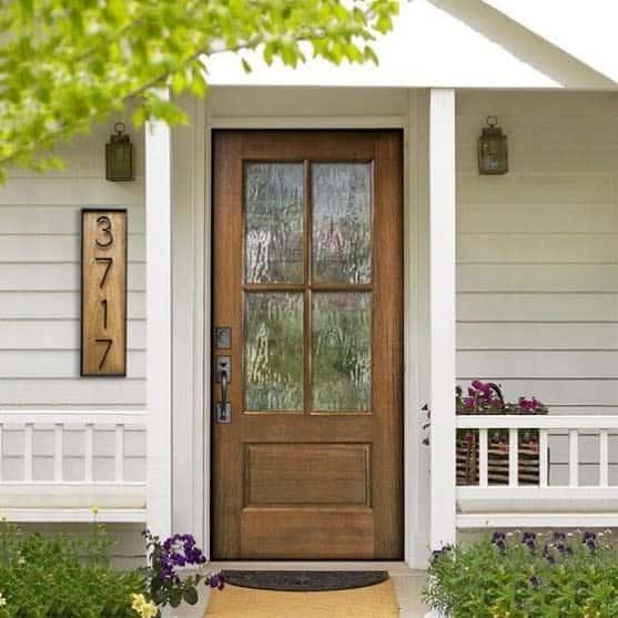 Wood House Number Ideas -designedaf.co