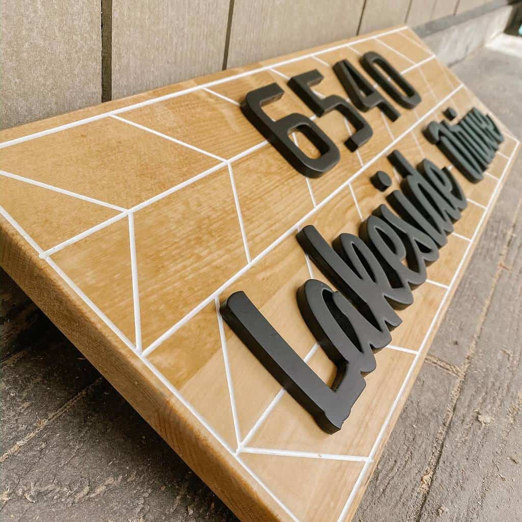 Wood House Number Ideas -shelbyandjun