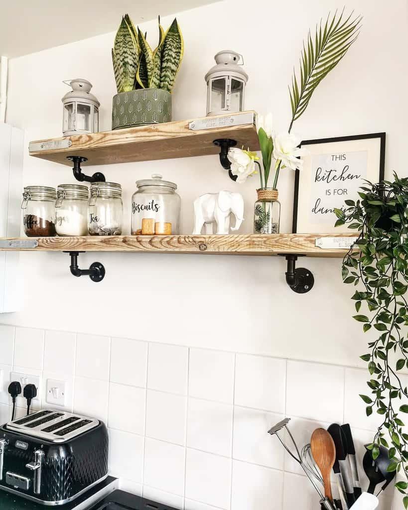 Wood Kitchen Shelf Ideas -florellaclean