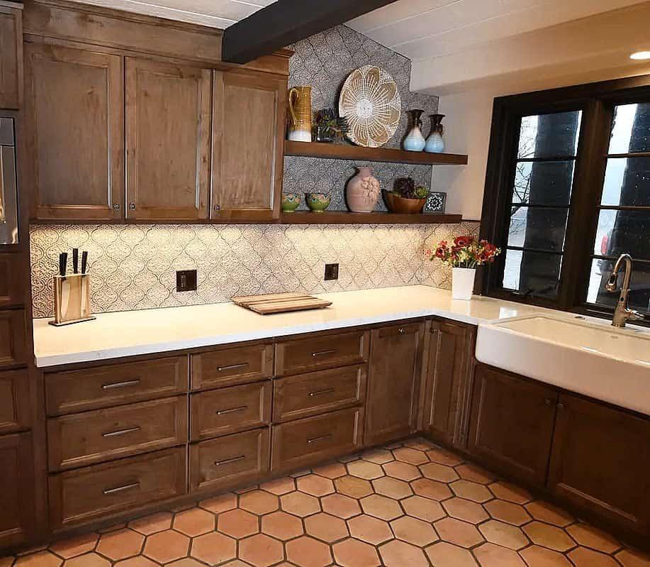 Wood Kitchen Shelf Ideas -forevertileandstonedesign