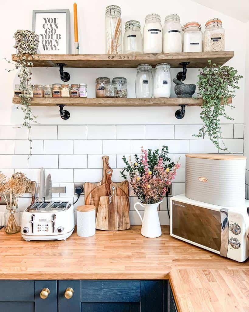 Wood Kitchen Shelf Ideas -homeforwillow