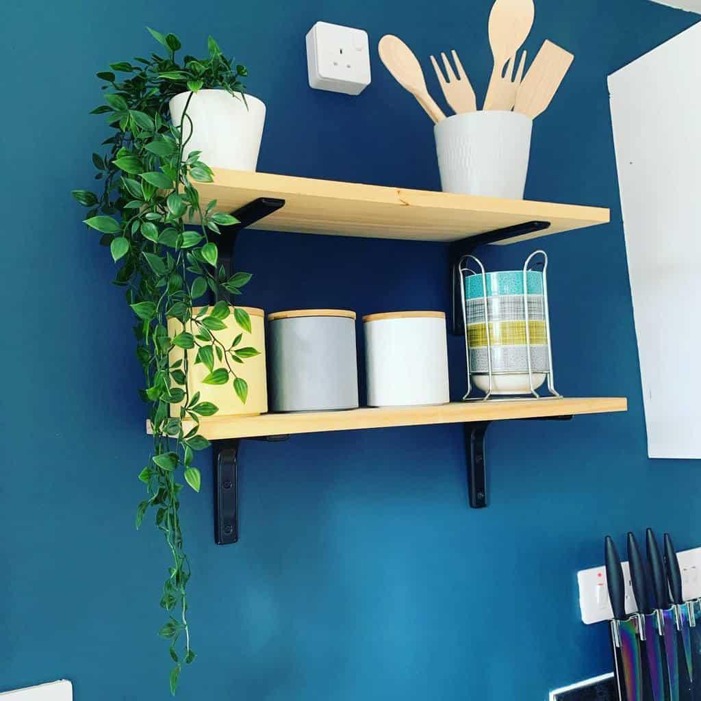 Wood Kitchen Shelf Ideas -homewithzo_