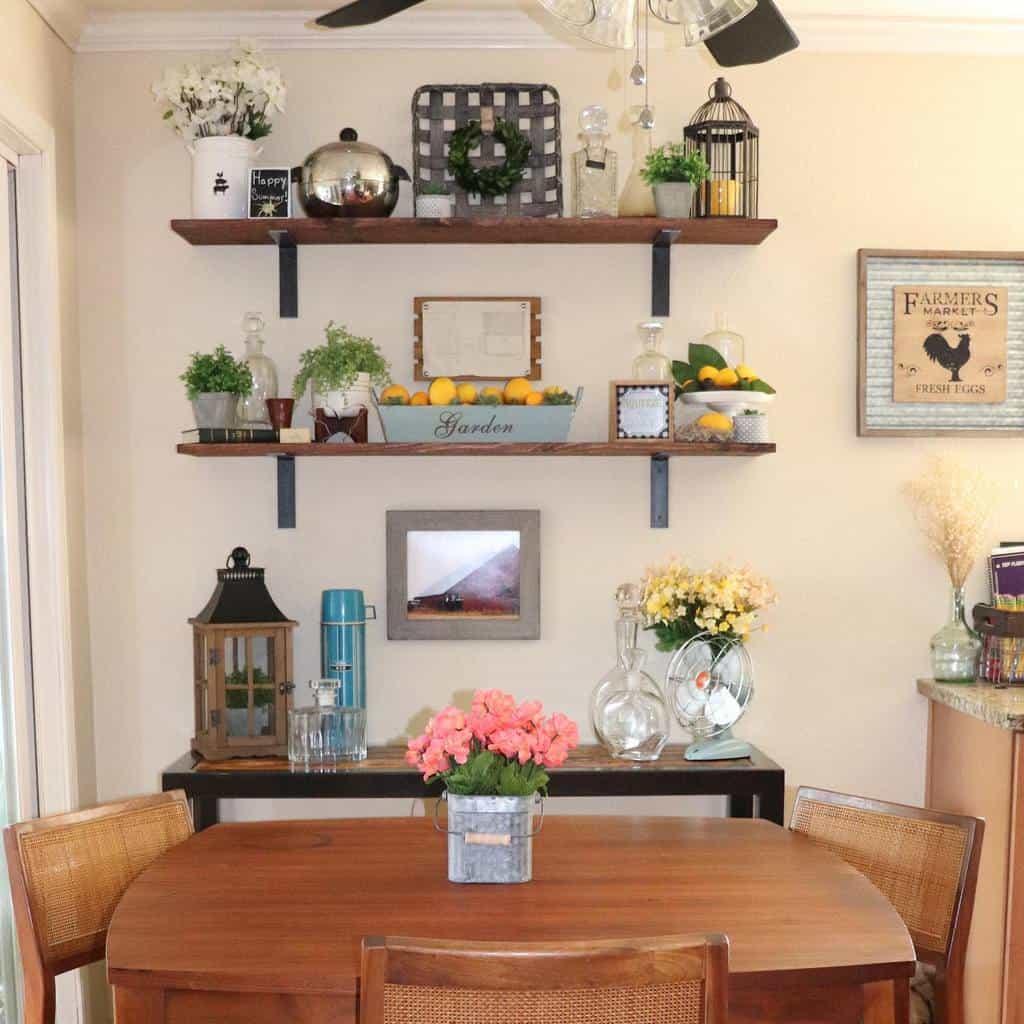 Wooden Floating Shelves Ideas -littlegreenrambler