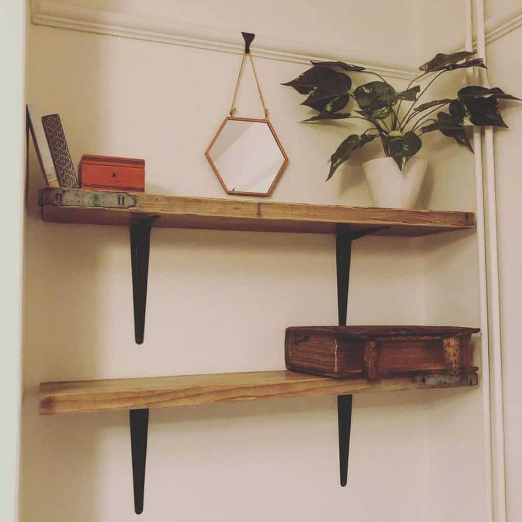 Wooden Floating Shelves Ideas -the.mid.terrace