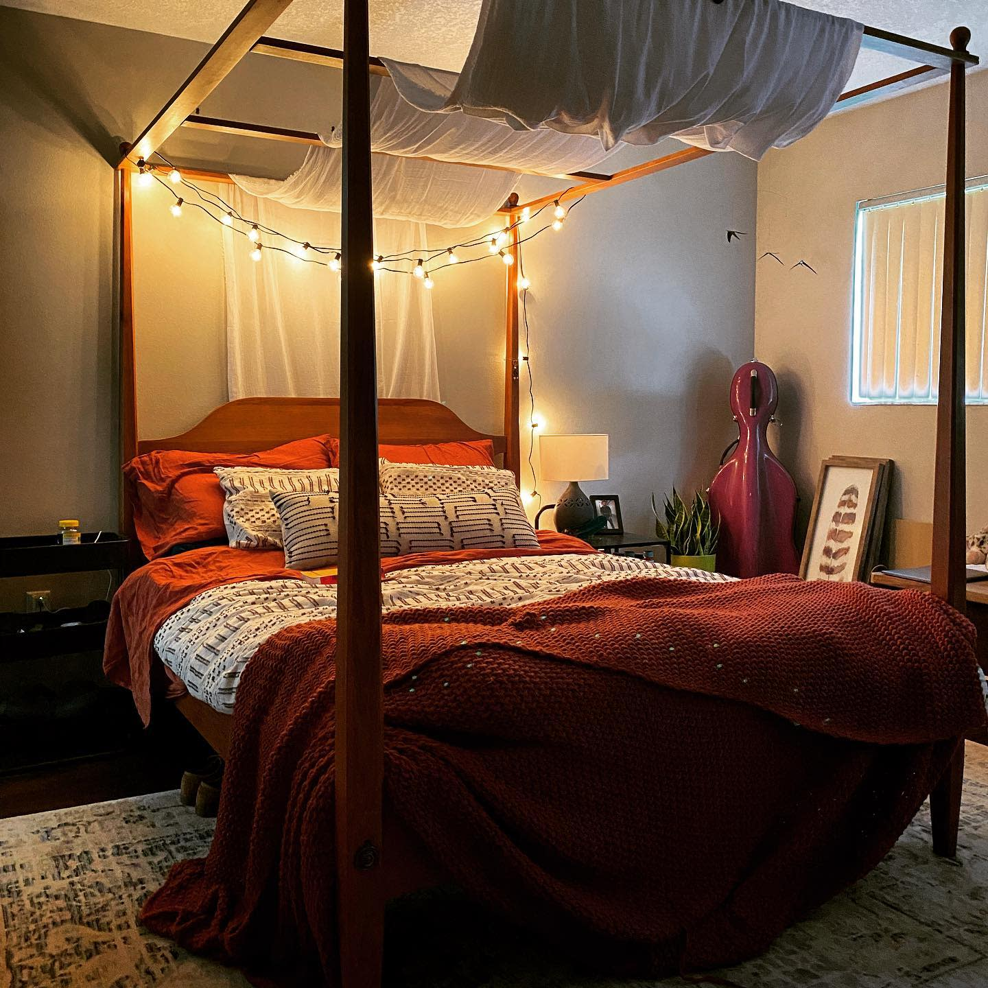 Rustic Canopy Bed Ideas -katcost