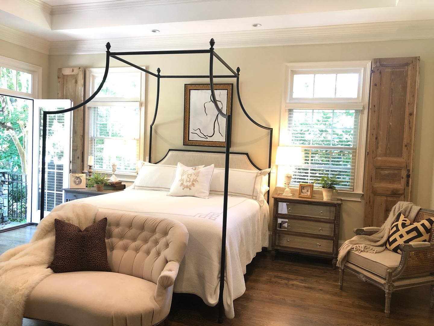 Tufted Canopy Bed Ideas -rightupallysalley
