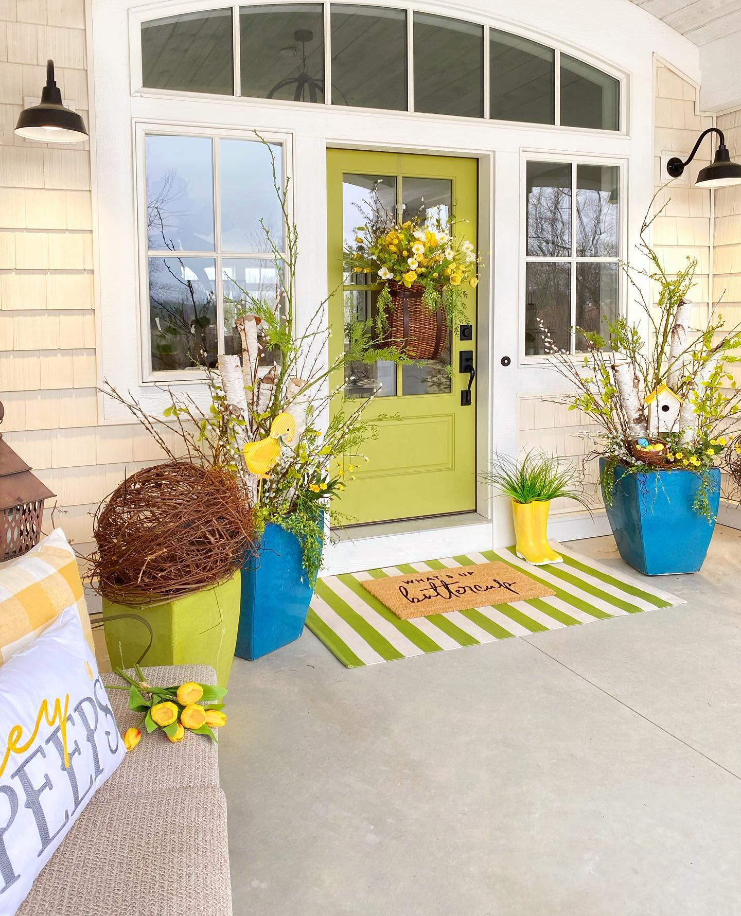 Muted Front Door Color Ideas -plaids.and.poppies