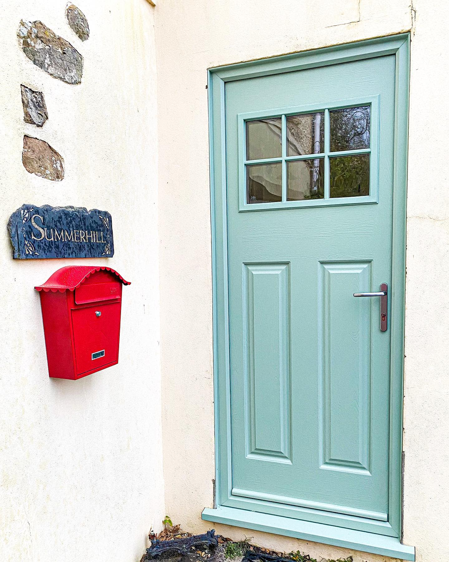 Pastel Front Door Color Ideas -home.at.summer.hill