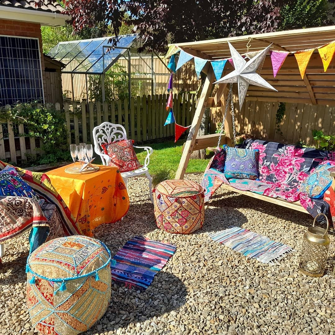 Bohemian Outdoor Room Ideas -nicethings_fromindia