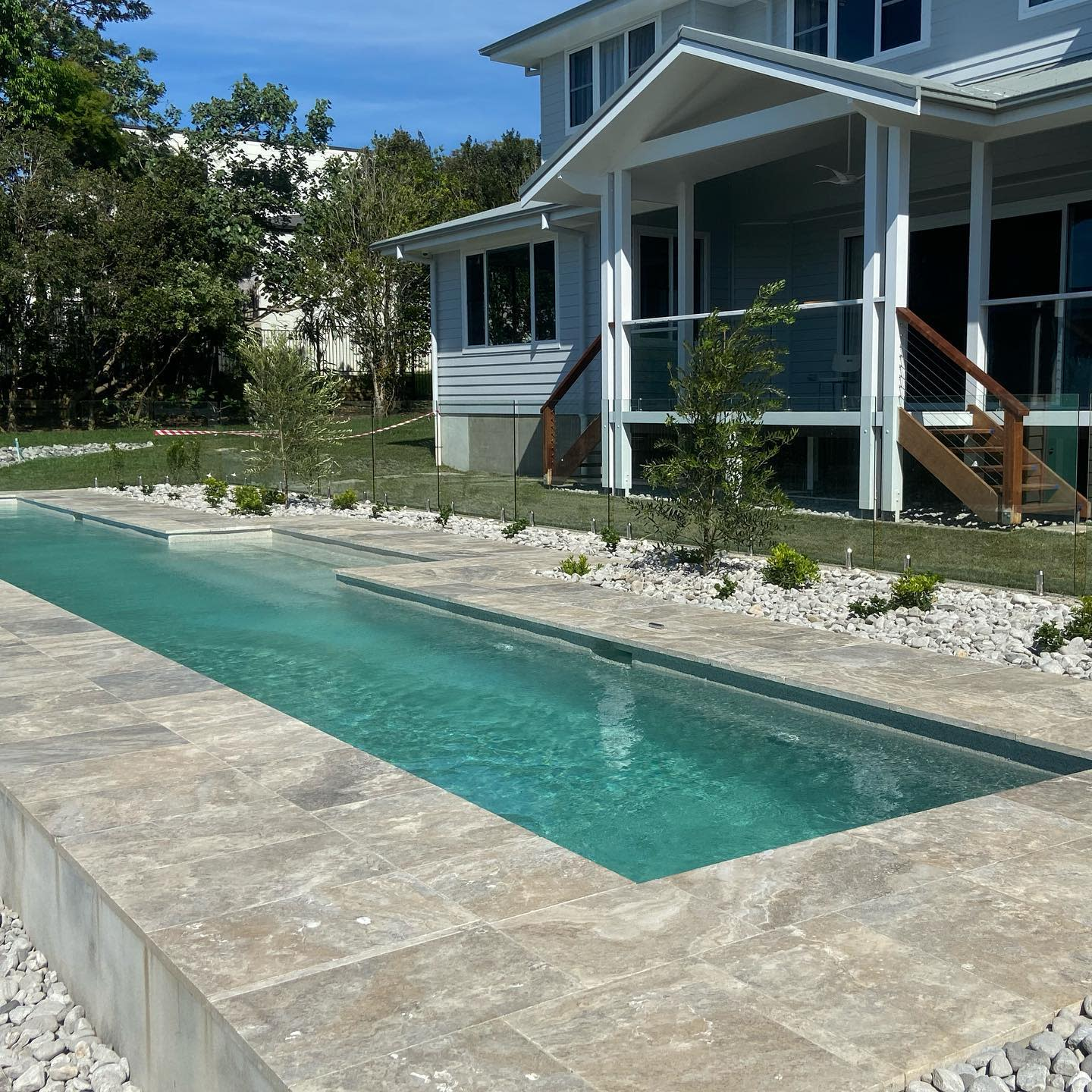 Travertine Pool Coping Ideas -aaronfoxlandscaping