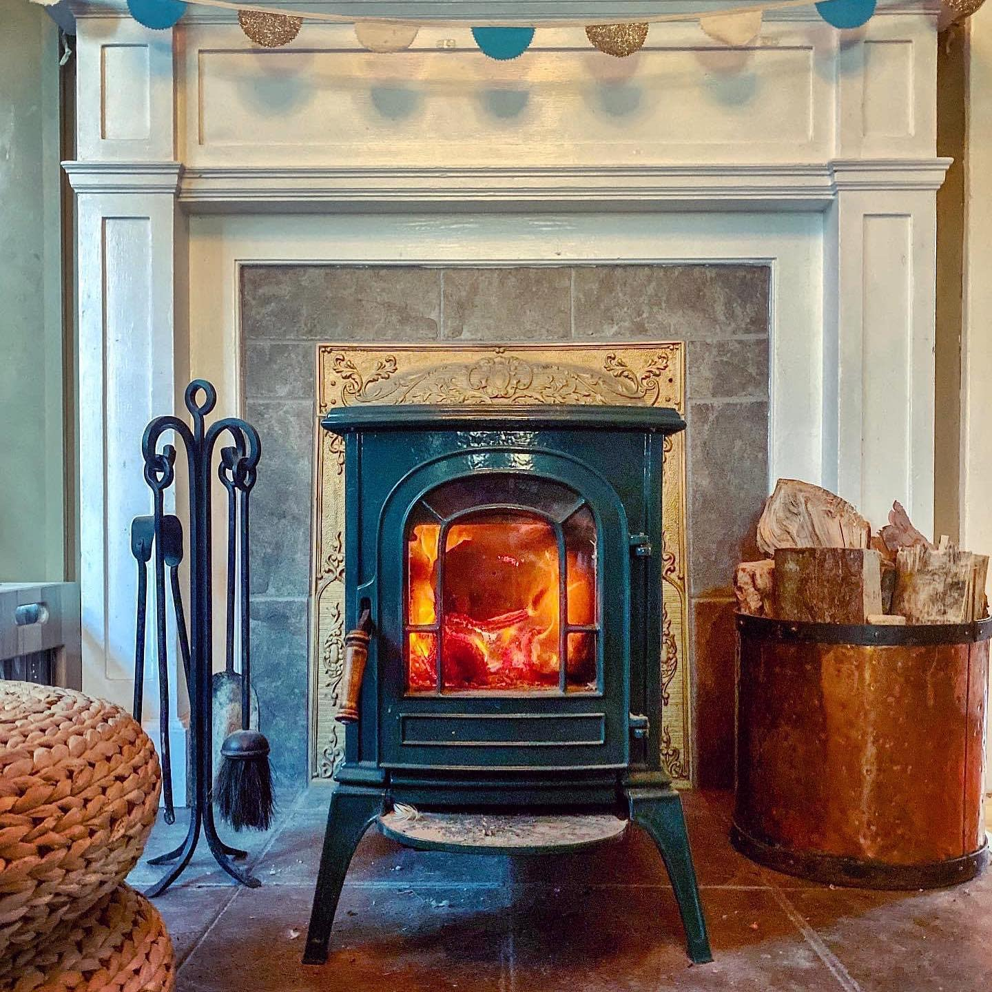 Tile Wood Stove Hearth Ideas -mikemacphail