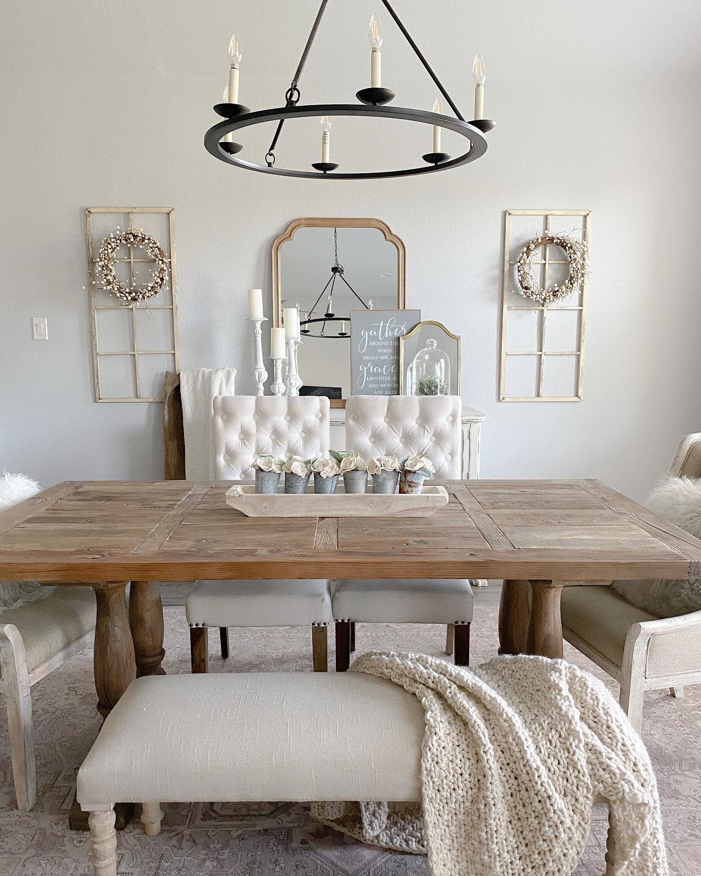 Farmhouse Dining Room Ideas -my.blessed.home