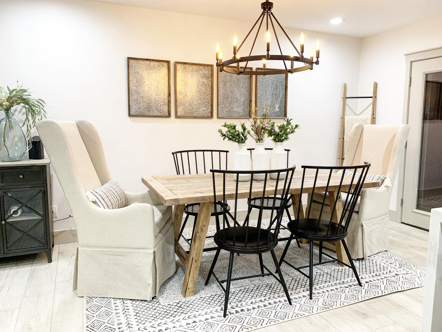 Candle Dining Room Lighting Ideas -krafted_renovations