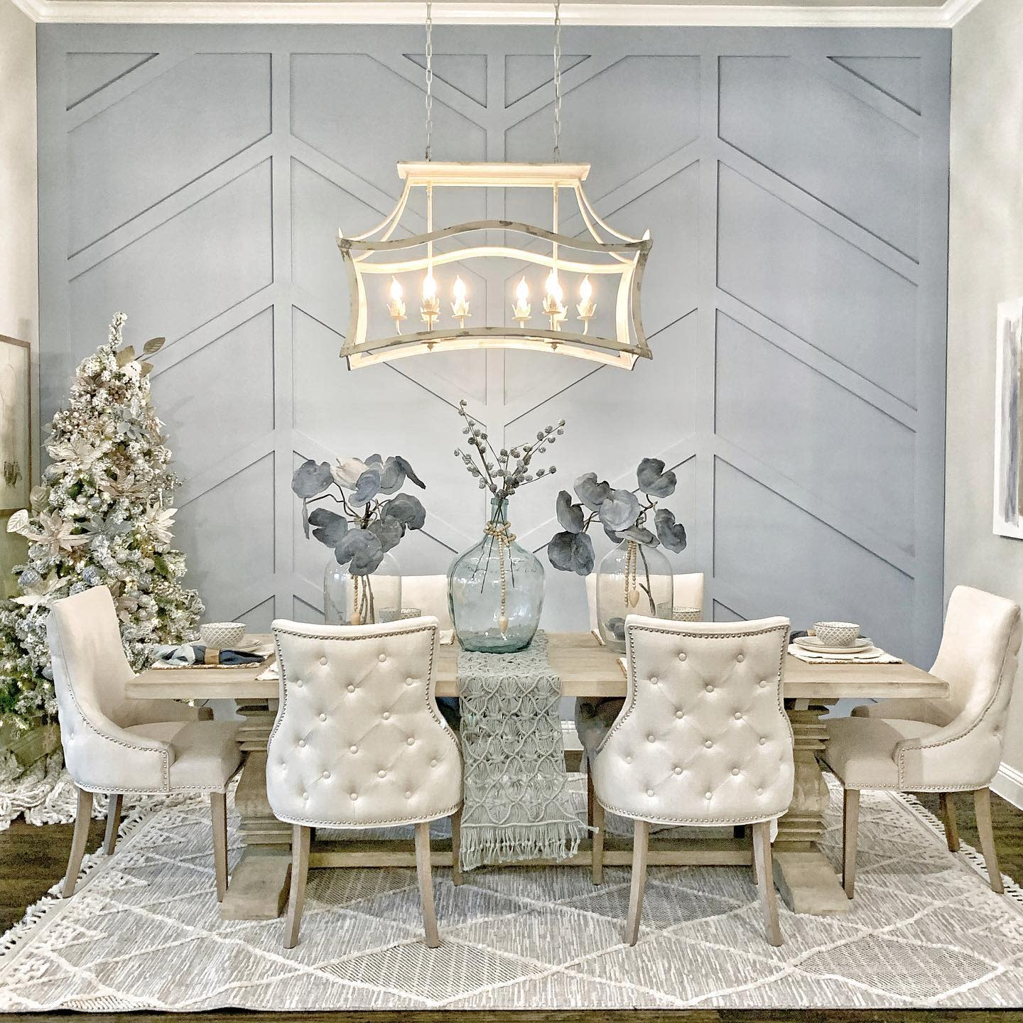 Panelling Dining Room Wall Decor Ideas -thefunkgypsy
