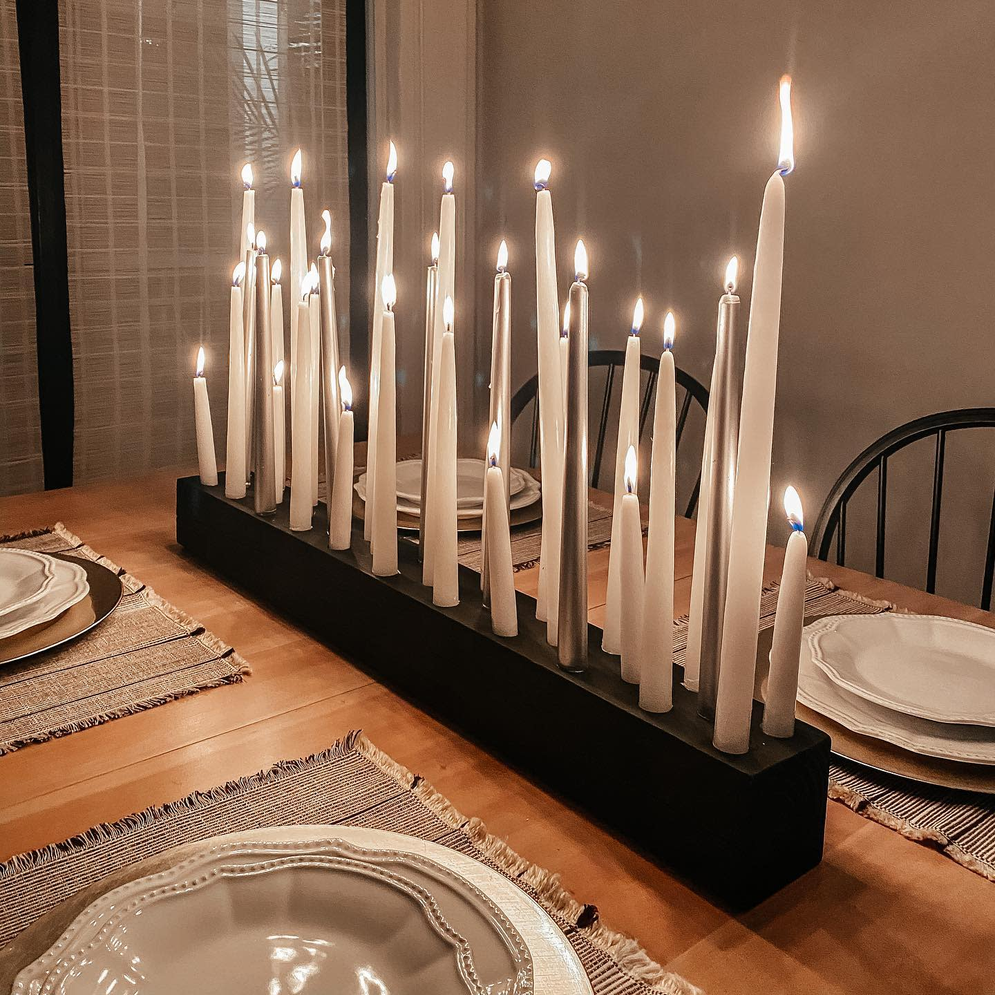 Candles Dining Table Centerpiece Ideas -scolahouse