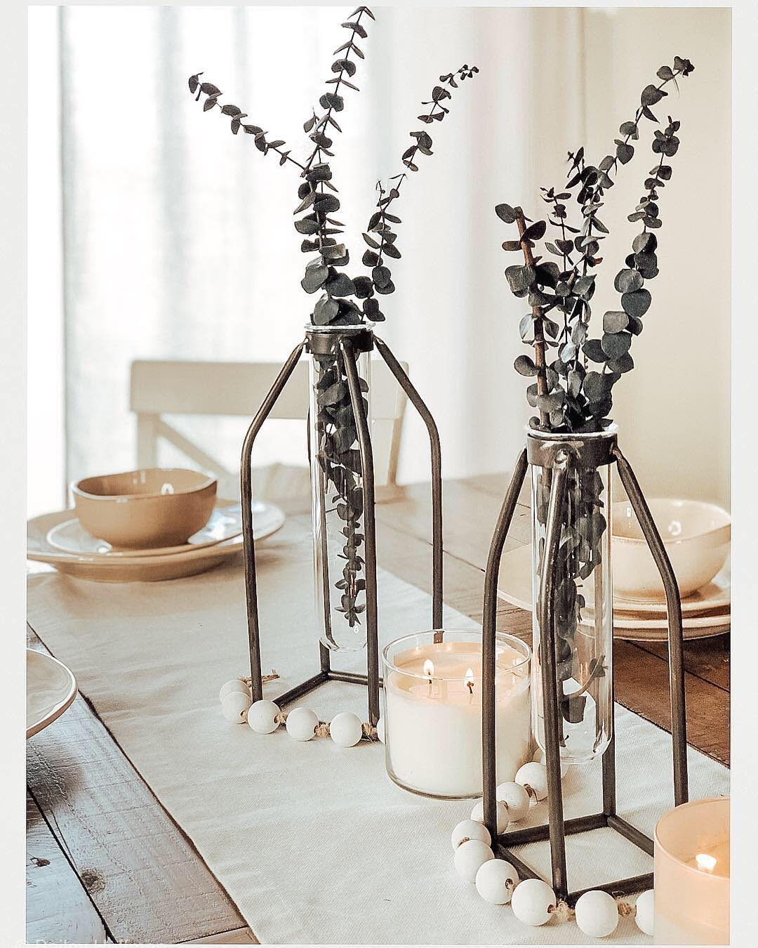 Farmhouse Dining Table Centerpiece Ideas -home_and_huffman