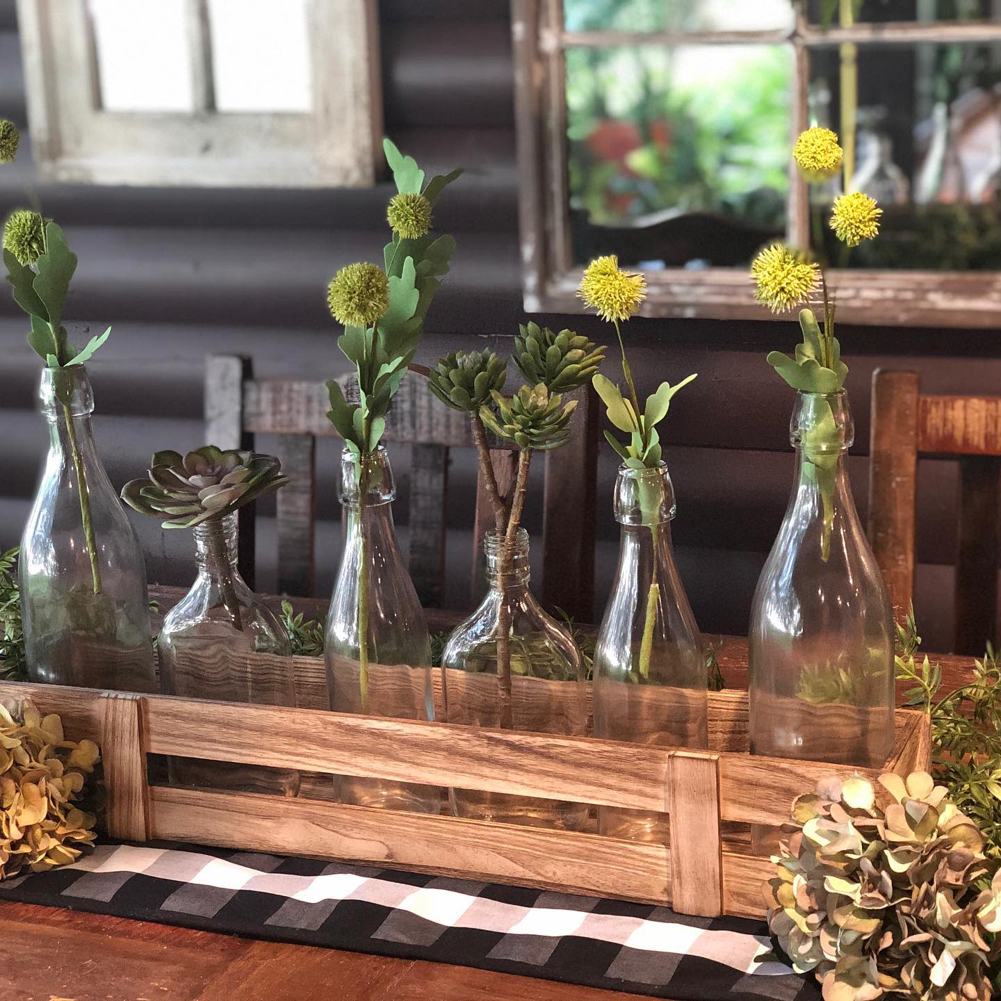 Rustic Dining Table Centerpiece Ideas -twigshomeandlighting