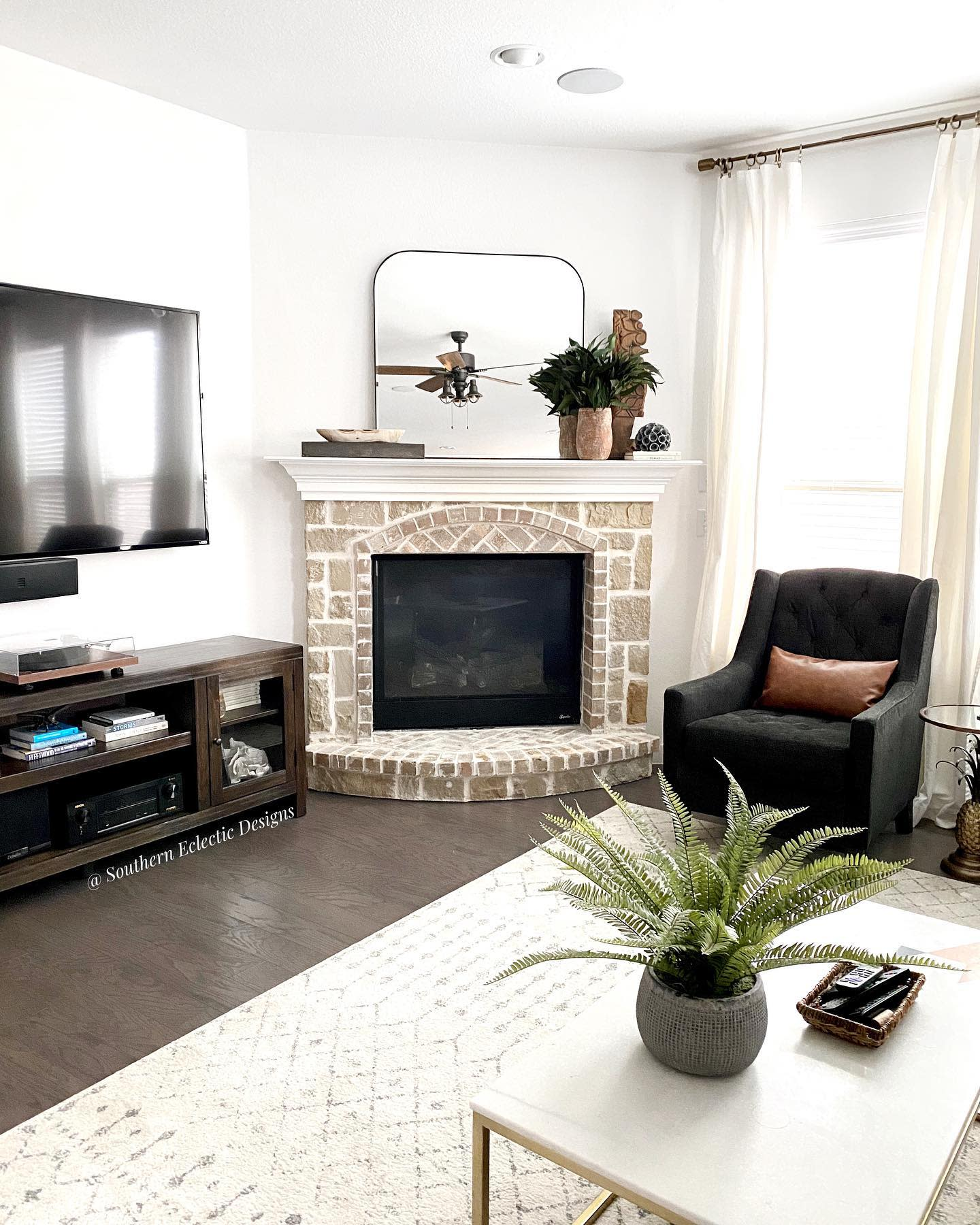 Mirror Fireplace Decor Ideas -southerneclecticdesigns