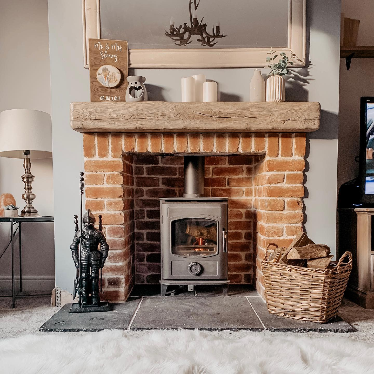 Neutral Fireplace Decor Ideas-ourslaneyhome