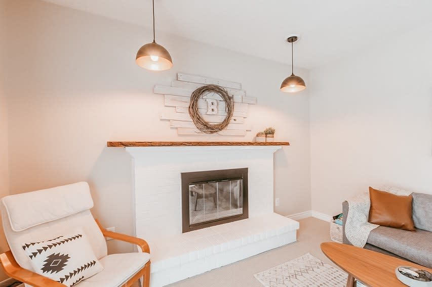 Wall Fireplace Decor Ideas -mommadore_adventures