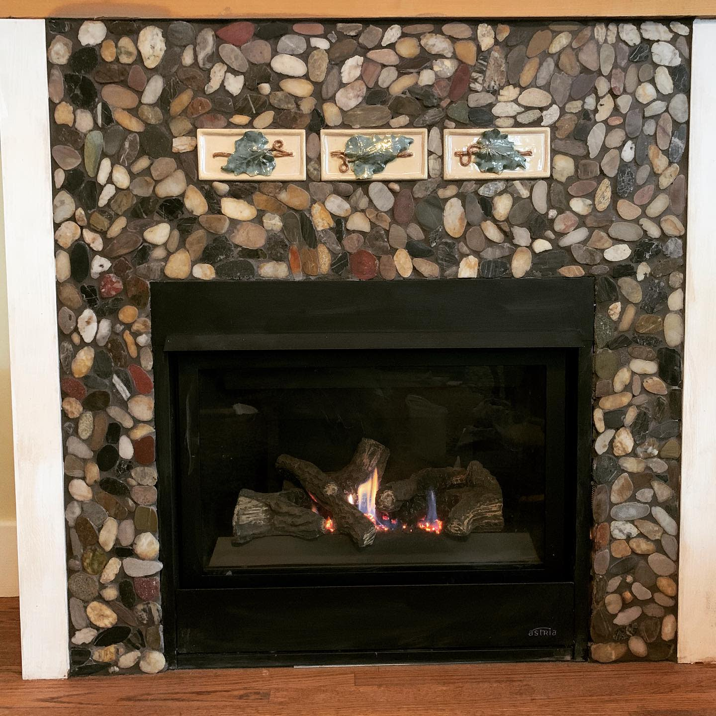 Mosaic Fireplace Hearth Ideas -shattered.images