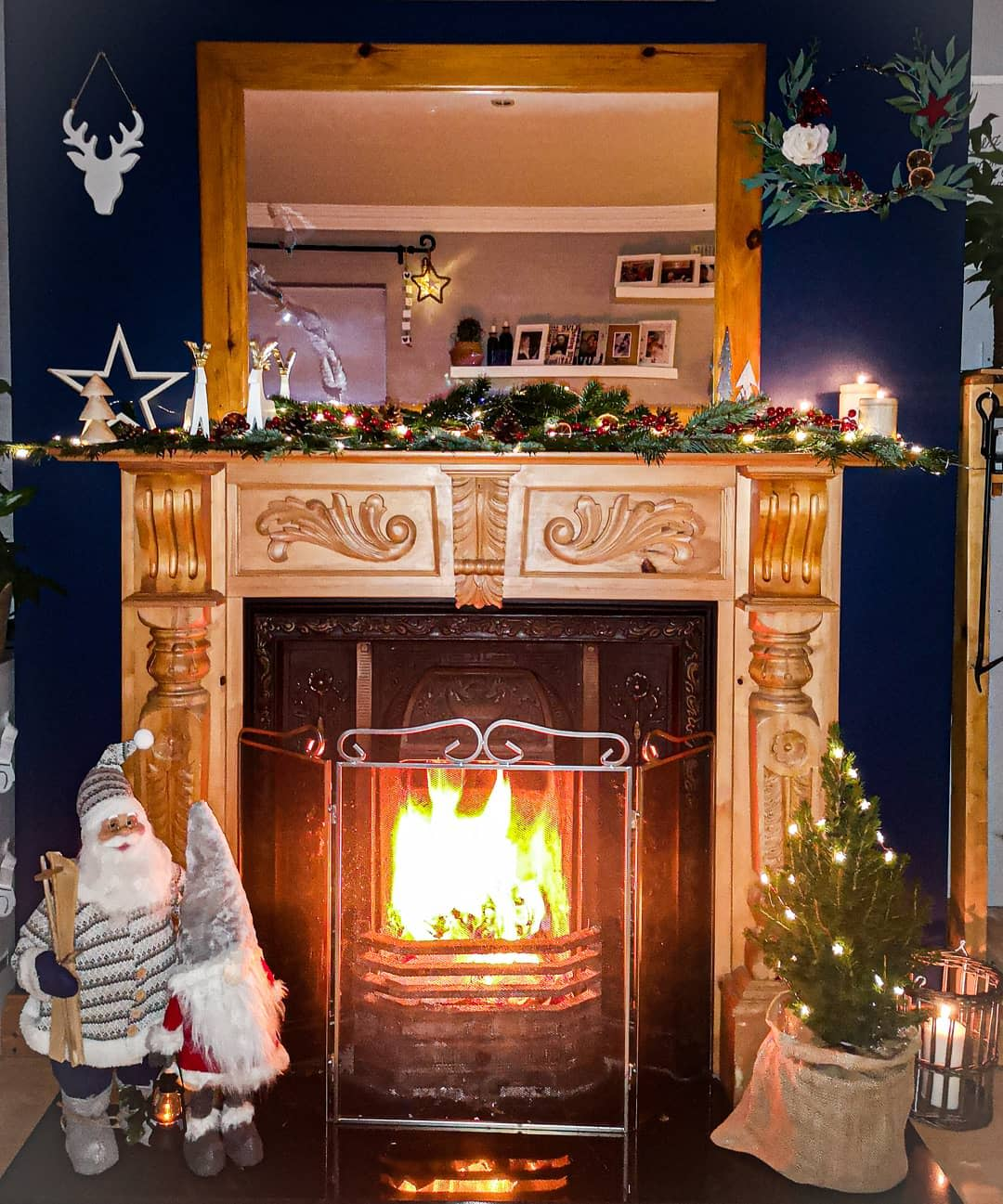 Wood Fireplace Ideas -country_life_ie