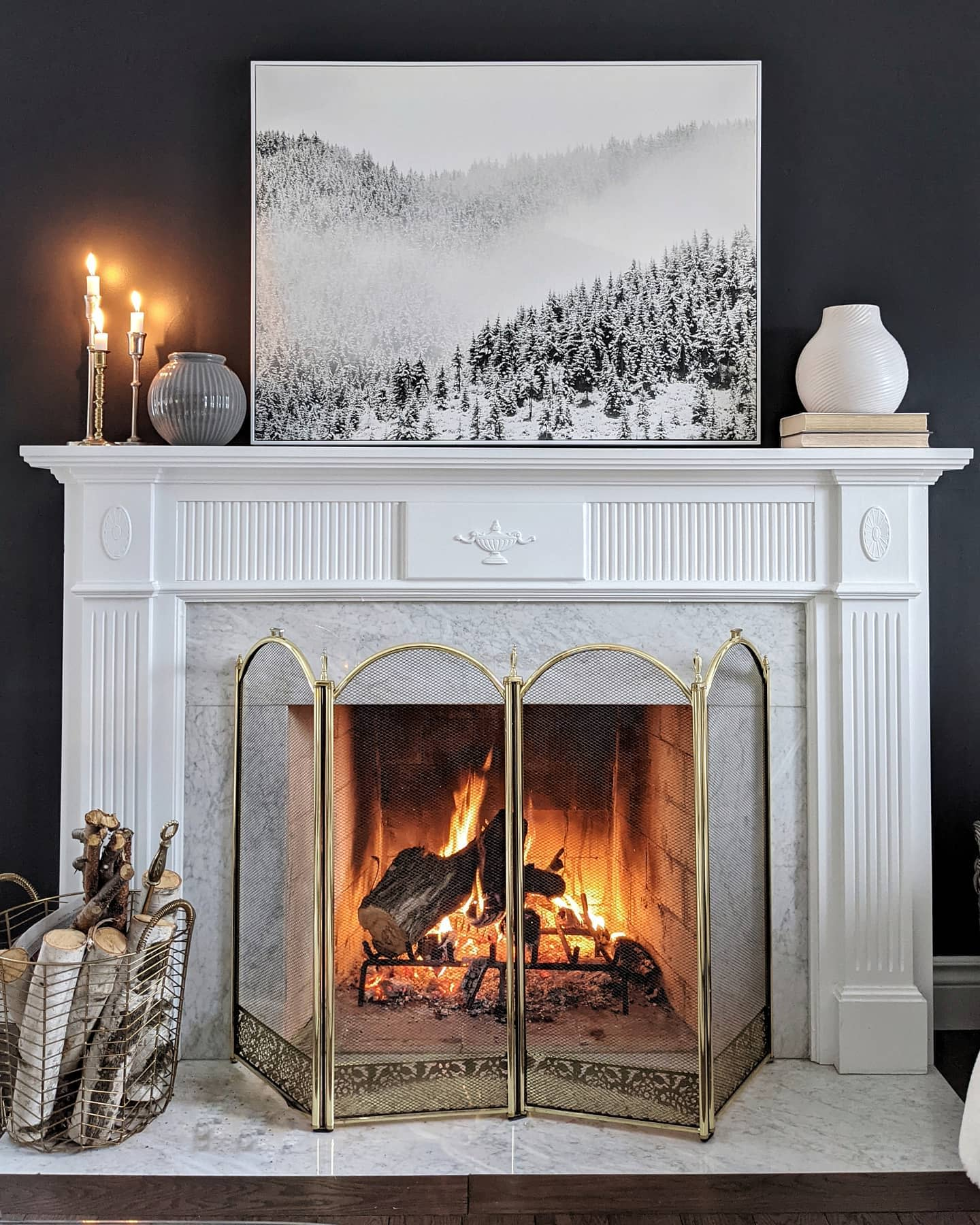 Traditional Fireplace Mantel Ideas -thetuftedhome