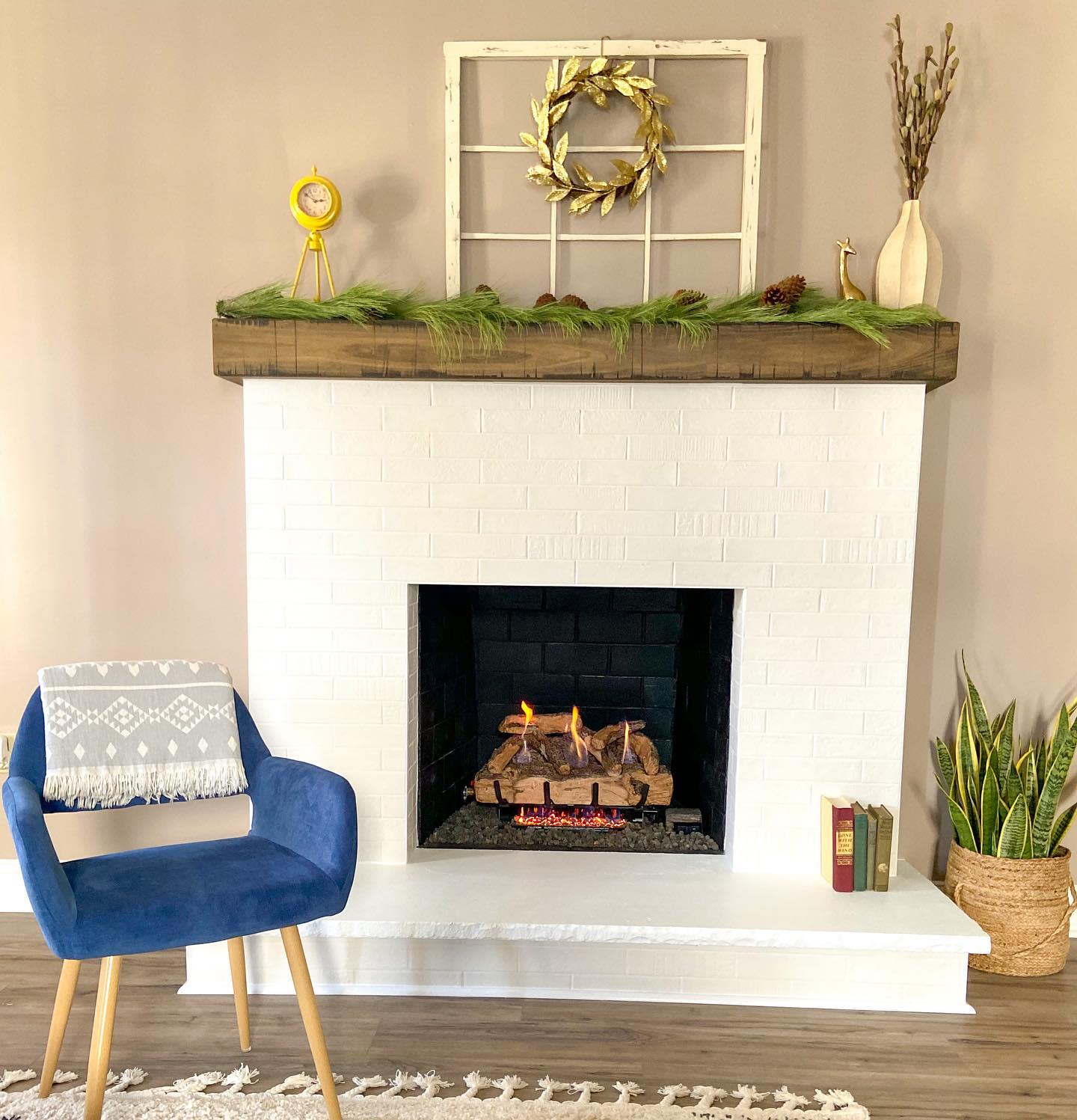 White Fireplace Mantel Ideas -ayars_complete